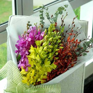 Exotic orchid bouquet