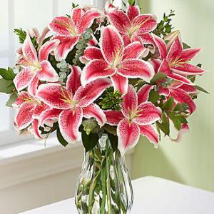 Big Vase of Lilies