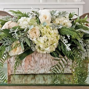 White Botanical Centerpiece