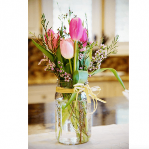 Fresh Spring Tulips - mason jar