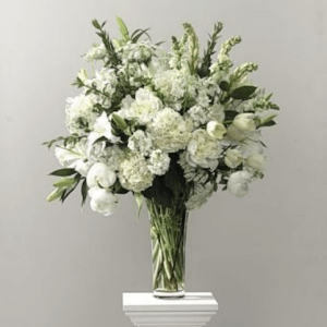 Ceremony Flowers - the white wedding