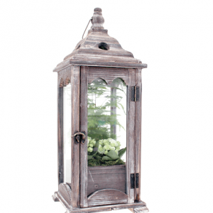 Rustic Winter Lantern