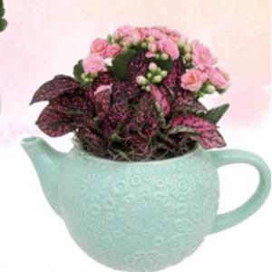 Spring Teapot Planter