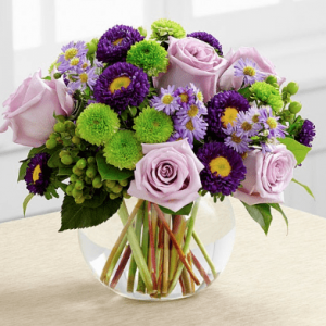 Royal Purple Aster Vase