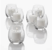 Roly Poly Votive Candles and holders