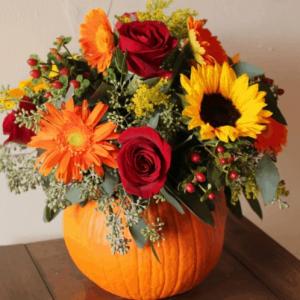 Fall Pumpkin Centrepiece