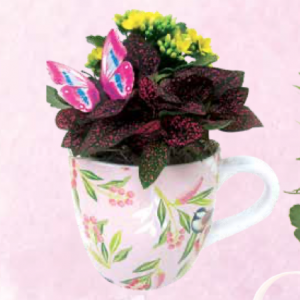 Floral Mug Planter