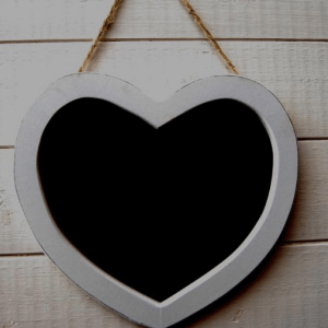 Rustic Heart Shaped Chalkboard