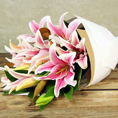 perfumed-pink-oriental-lilies