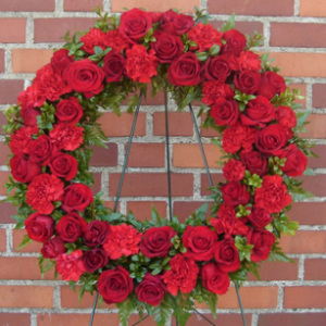 Remembrance Wreath - Red